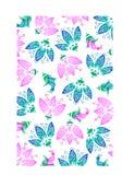 Multi farbiger Blumenhintergrund Stockfoto