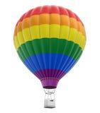 Multi farbiger Heißluft-Ballon Lizenzfreies Stockfoto