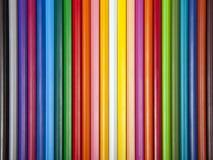 Multi farbiger Hintergrund gemasert mit Farbbleistiften Lizenzfreie Stockbilder