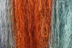 Multi farbiges Fischernetz stockfoto