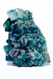 Multi farbiges Fluoritmineral Kristall Lizenzfreie Stockfotografie