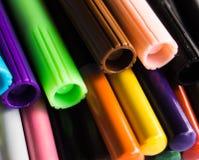 Multi farbiges nahes hohes der Markierungen Lizenzfreie Stockbilder