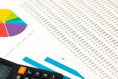 Multi Farbkreisdiagramm und Bericht 2 Lizenzfreie Stockfotografie