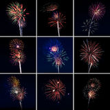 Multi Fireworks Stock Images