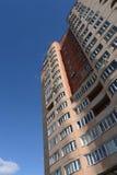 Multi-flathuis op Dzerzhinsky-Straat in Kokoshkino, het Administratieve District van Novomoskovsk van Moskou Royalty-vrije Stock Afbeelding