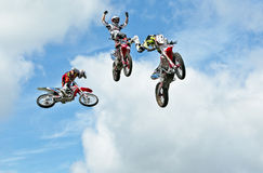 Multi FMX jump Stock Photos