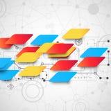 Multi fondo astratto del colore Fotografie Stock