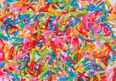 Multi fondo colorato delle bande elastiche Fotografia Stock