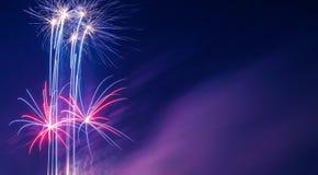 Multi fondo colorato maestoso dei fuochi d'artificio Fotografia Stock Libera da Diritti