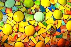 Multi fontana di acqua colorata Fotografia Stock Libera da Diritti