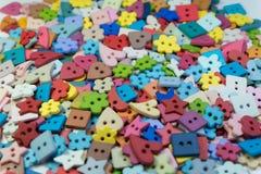 Multi forma e fondo variopinto dei bottoni Immagine Stock