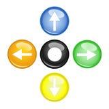 Multi freccia di colore quattro Immagini Stock Libere da Diritti