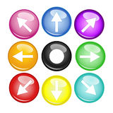 Multi freccia e globo di colore Immagini Stock