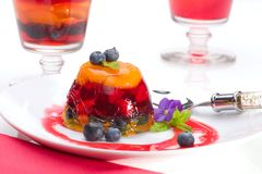 Multi-fruit jelly Royalty Free Stock Image