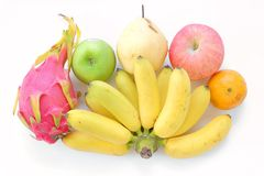 Multi fruit. On white background Royalty Free Stock Photos