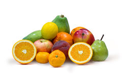Multi Fruits isolated on white Royalty Free Stock Image