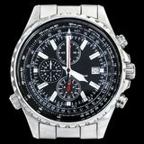 Multi Functional Sport Electronic Chronograph With Black Dial An Royalty Free Stock Image