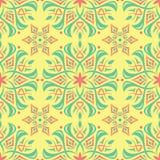 Multi fundo floral sem emenda colorido Teste padrão cor-de-rosa do verde azul e do amarelo Fotos de Stock Royalty Free