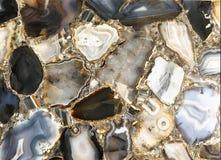 Multi gekleurd Marmeren van de steentextuur abstract patroon als achtergrond F Royalty-vrije Stock Fotografie