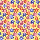 Multi Gekleurd Naadloos Bloemenpatroon Royalty-vrije Stock Afbeeldingen