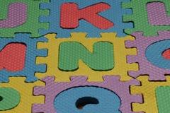 Multi gekleurde brieven jklmnopqr royalty-vrije stock foto's