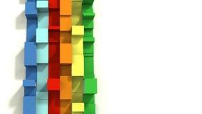 Multi Gekleurde 3D Ge?llustreerde Geometrische Linten op een Witte Achtergrond royalty-vrije stock afbeelding