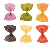 Multi gekleurde deegwaren Stock Afbeeldingen