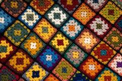 Multi gekleurde deken Stock Fotografie