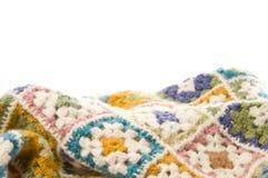Multi gekleurde deken in wol Stock Foto's