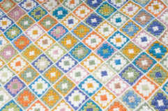 Multi gekleurde deken in wol Royalty-vrije Stock Foto's