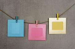 Multi gekleurde fotokaders Stock Foto's