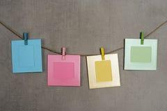 Multi gekleurde fotokaders Stock Fotografie