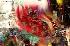 Multi gekleurde grungy achtergrond stock afbeelding