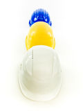 Multi gekleurde helmen Stock Foto