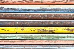 Multi gekleurde houten textuur Royalty-vrije Stock Foto
