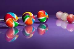 Multi gekleurde lollys Stock Foto's