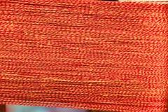 Multi gekleurde natuurlijke geverfte garens voor het weven in Thailand stock afbeelding