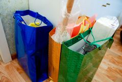 Multi gekleurde pakketten Stock Foto's