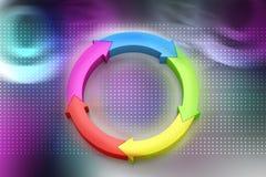 Multi gekleurde pijlcirkel vector illustratie