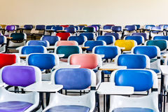 Multi gekleurde stoelen Royalty-vrije Stock Foto