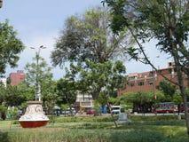 Multi gekleurde vaas in een Miraflores 7 Juni-Park, Lima Stock Afbeeldingen