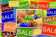 Multi gekleurde Verkooptekens vector illustratie