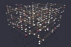 Multi gelaagd netwerk royalty-vrije illustratie