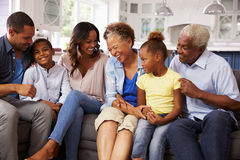Multi generation black family at home Stock Image