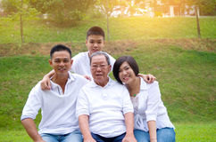 Multi-Generation Chinese Family Royalty Free Stock Photography