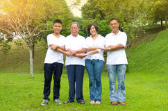 Multi-Generation Chinese Family Stock Photos