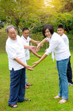 Multi-Generation Chinese Family Stock Images