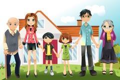 Multi generation family Stock Image
