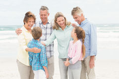 Multi generation family all together Royalty Free Stock Photos