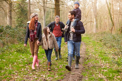 Multi Generation Family On Countryside Walk Stock Images